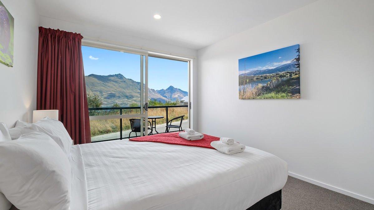 Wake up to stunning lake and mountain views
